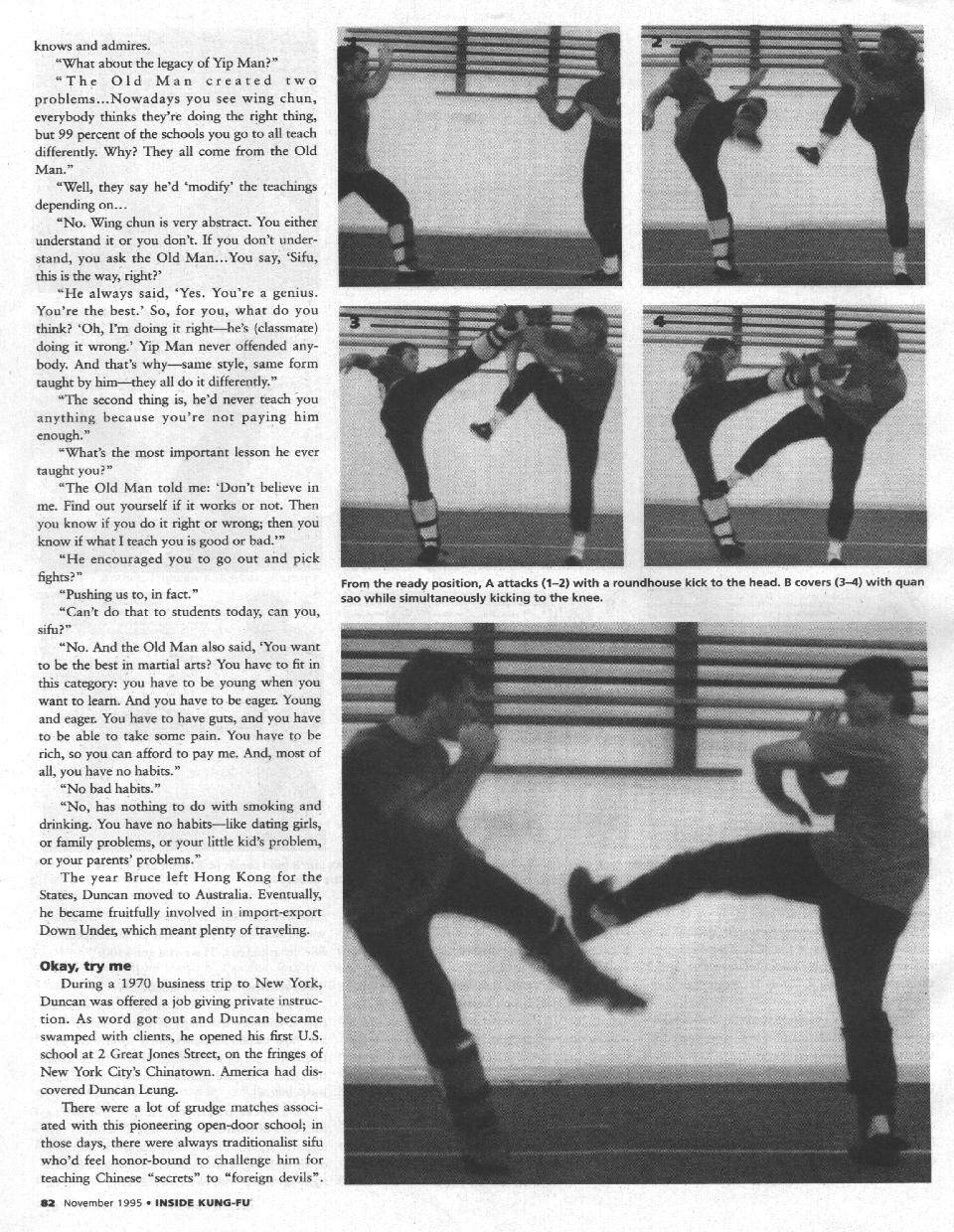Inside Kung Fu November 1995 page 5