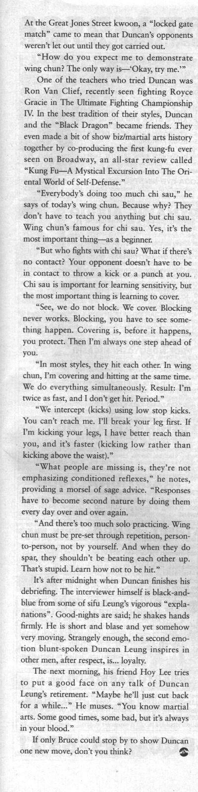 Inside Kung Fu November 1995 page 6